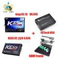 Nueva Kess V2 OBD2 Gerente de 4.036 V2.23 + 2.13 FW6.070 K-TAG Ktag k-tag ECU Programador Fgtech Galletto 4 Master v54 + Adaptador Marco de BDM