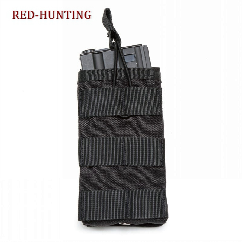 Molle System Nylon Single Open Top Airsoft Tactical <font><b>M4</b></font> <font><b>Magazine</b></font> Pouch AK AR <font><b>M4</b></font> AR15 Rifle Pistol Mag Pouch image