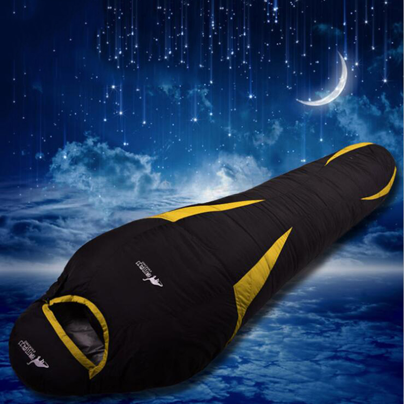 Ultralight Down Sport Hiking Sleeping Bags Outdoor Winter Camping White Goose Down Adult Mummy Waterproof Sleeping Bags 3 Color Sports & Entertainment