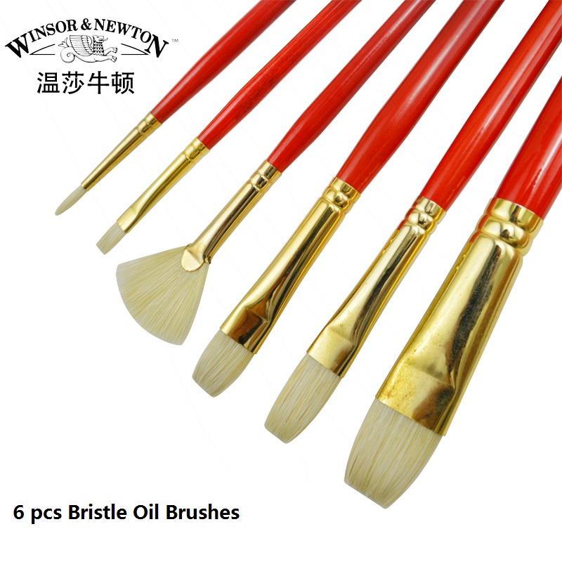 WINSOR&NEWTON High hardness Bristle paint brush Artist professional Oil Acrylic brush art supplies bristle brush page 4