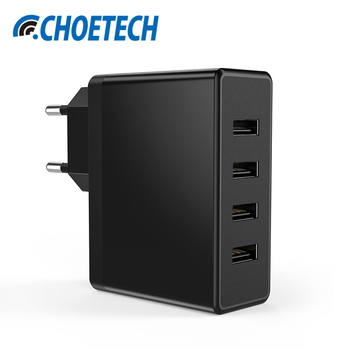 CHOETECH Universal 4 Ports USB Charger 5V/5A Multi USB Tavel Wall Charger Adapter for iPhone 7 6S Galaxy S8 Mobile Phone Charger