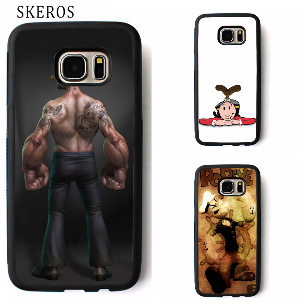 SKEROS Popeye cover phone case for samsung galaxy S3 S4 S5 S6 S7 S8 S6 edge S7 edge Note 3 Note 4 Note 5 #ww283