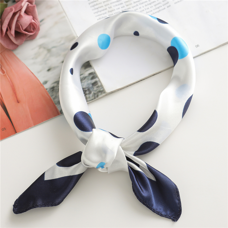 Small Silk Scarf Square Soft Hair Tie Band Bag Decorative Head Scarfs Multicolor Stripe Print Kerchief Neck Skinny Scarves