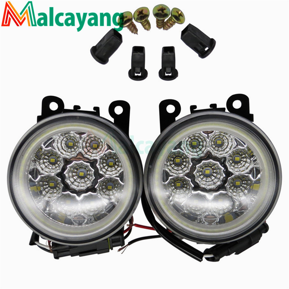 Angel Eyes Car Styling 12V 90mm Round LED Fog Light For Renault Trafic II 2001 2015