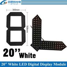 """4 قطعة/الوحدة 20 """"اللون الأبيض في الهواء الطلق 7 سبعة الجزء الصمام الرقمية عدد وحدة ل سعر الغاز LED وحدة عرض"""