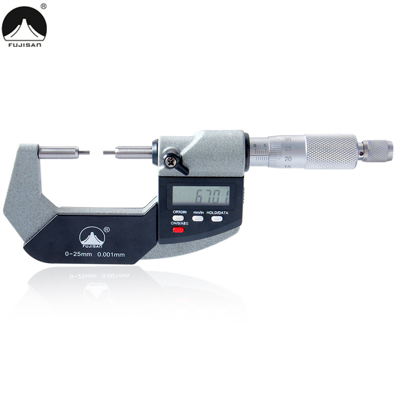Digital Outside Micrometer 0-25mm Carbide Tip 2mm Electronic Caliper Gauge Measuring Tools кронштейн для телевизоров pyramid lcd 1b