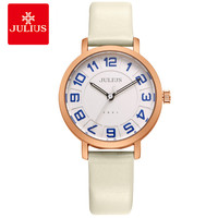 JULIUS Alibaba Express Ladies Watches Women Dress Ultra Thin Cheap Promotion Round Leather Relogio Free Ship