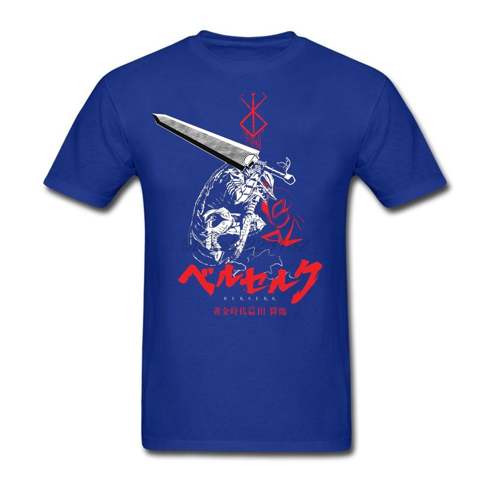 Customize Berserk T-Shirts Men Music Theme Black Kpop Cotton Diy Tee Shirt Summer Clothing Homme