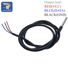 DS18B20 Stainless steel package 1 meters waterproof DS18b20 temperature probe temperature sensor 18B20 for arduino(China (Mainland))