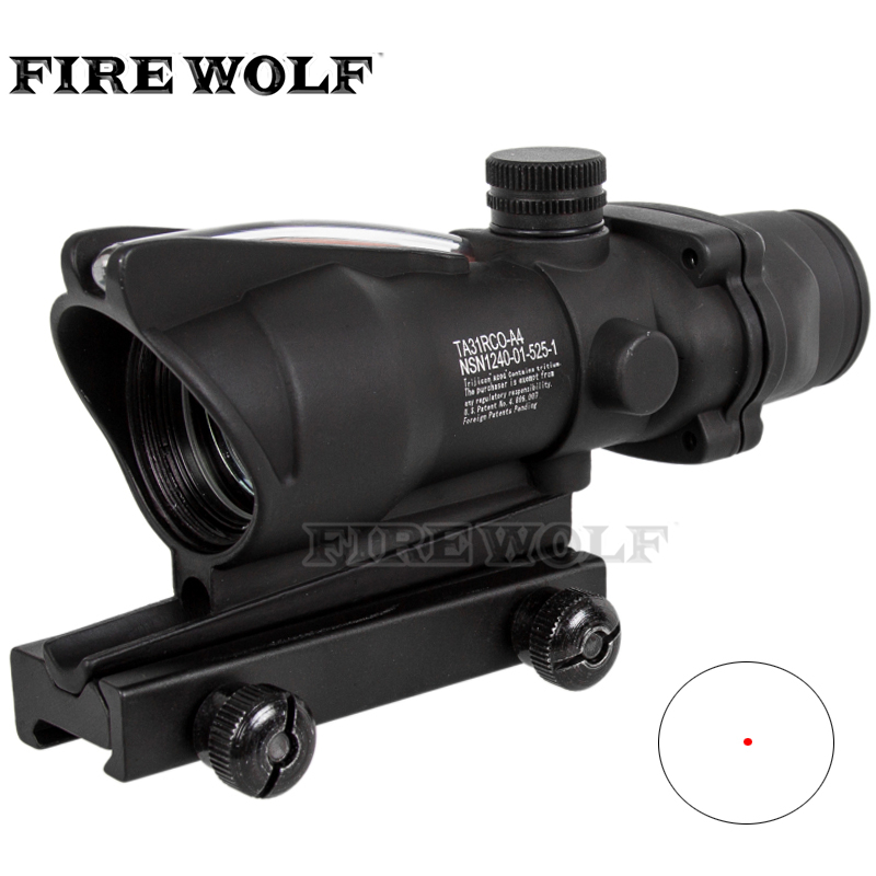1x32 Holographic Fiber Optical Collimator Sights Red Dot Sight Scope For M16 Air Rifle Gun Black