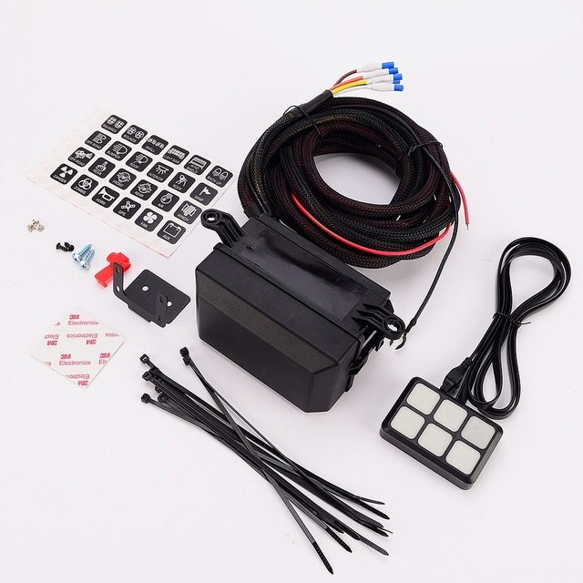 6 gang switch panel electronic relay system circuit control box rh aliexpress com Under Dash Fuse Relay Box Under Dash Fuse Relay Box
