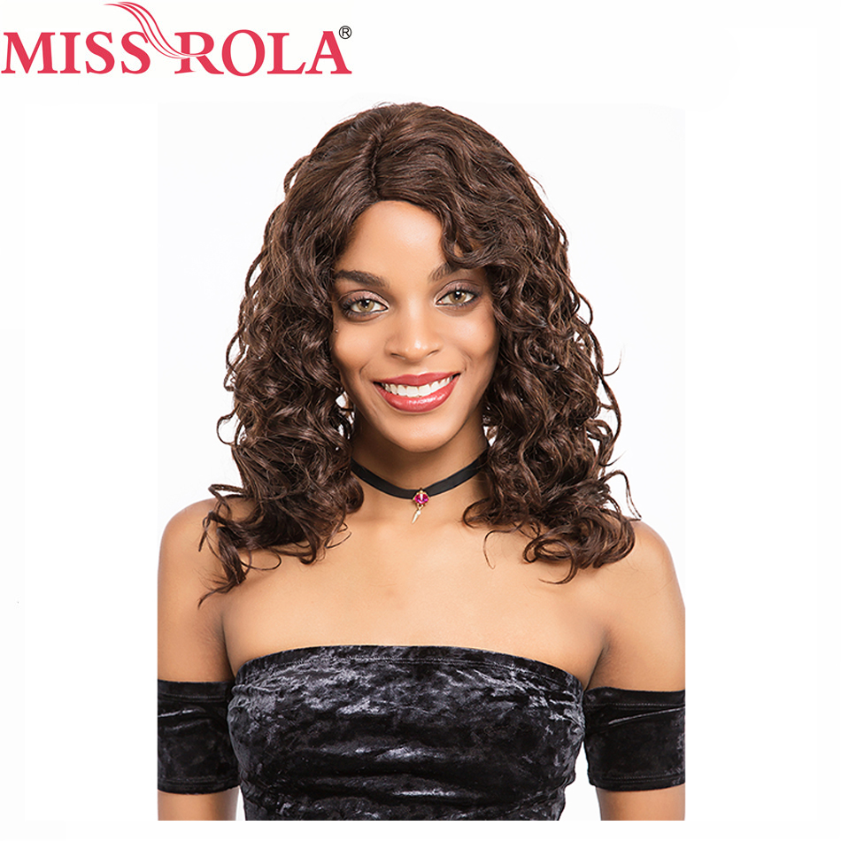 Miss Rola Hair Brazilian Hair Loose Wave Wigs #2/4 for Women Frontal Lace Wigs Non-Remy Hair Free Shipping ...