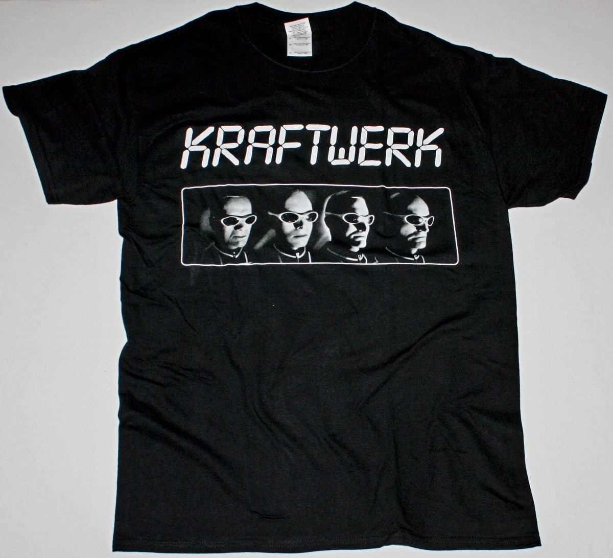 KRAFTWERK DEN ATELIER BLACK T-SHIRT ELECTRONIC SYNTHPOP TECHNO MUSIC