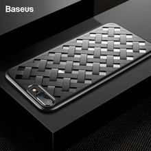 Baseus Luxe Weave Grid Case Voor iPhone 8 8 Plus 7 7 Plus Cover Case Ultra Dunne PC & TPU capinhas Coque Fundas Capa Voor iPhone8(China)