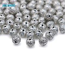 Jakongo espaçador grânulos de prata antiga chapeado grânulos soltos para fazer jóias pulseira acessórios artesanato artesanal 7mm 20 peças