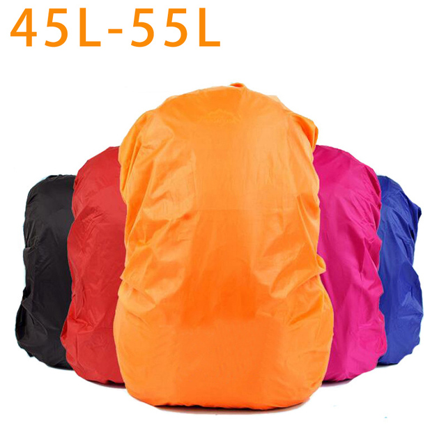 Durable Waterproof Nylon Bag Cover Water Resist 45-55L Backpack Rain Cover  Military backpack Cover ac434252e3245