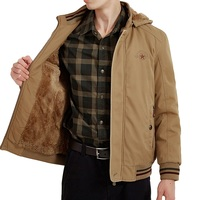 Winter Jacket Men Windbreaker Thick Warm Fleece Parka Military Jacket Men Coat Male Wool Liner Hooded Collar Chaquetas Hombre
