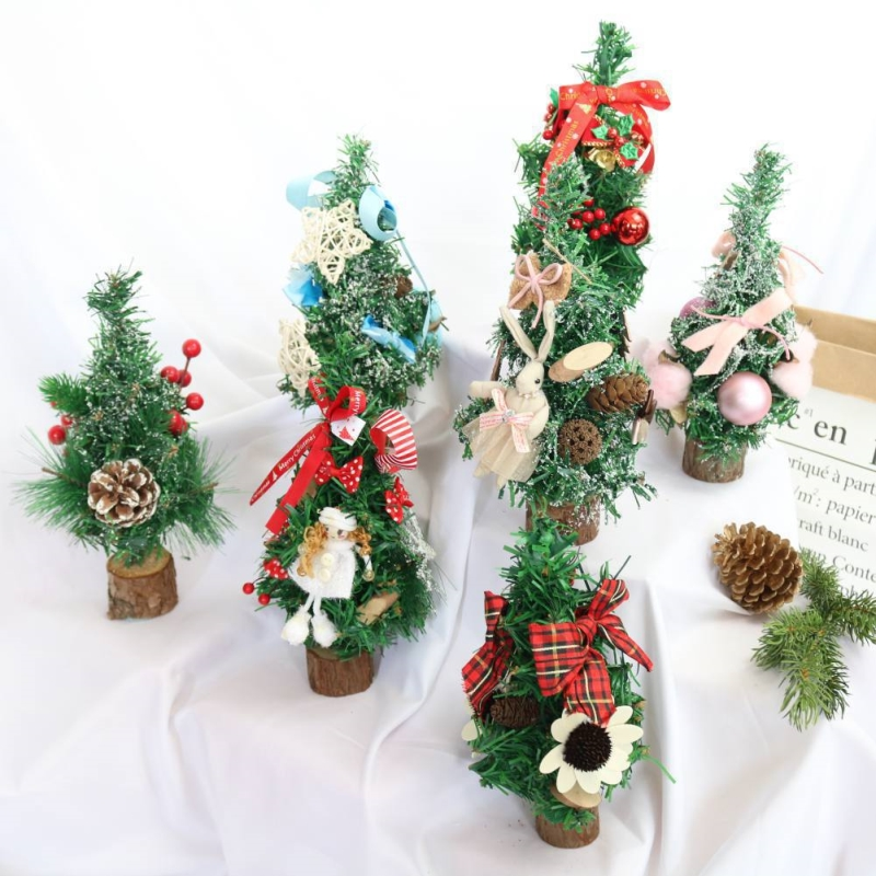 2018 New Christmas Tree Decoration Holiday Home Mini