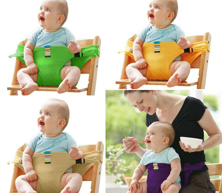 Купить с кэшбэком Baby Chair Portable Infant Seat Product Dining Lunch Chair/seat Safety Belt Feeding High Chair Harness Baby Feeding Chair