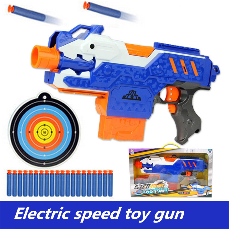 Pistol sniper rifle Electric soft bullet toy gun plastic Can be disassembled and assembled toy gun for children submachine toys