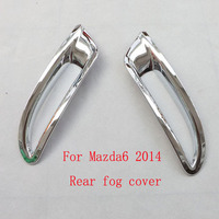 Free Shipping Rear Tail Fog Light Lamp Cover Trim ABS Chrome For Mazda 6 2014 Auto