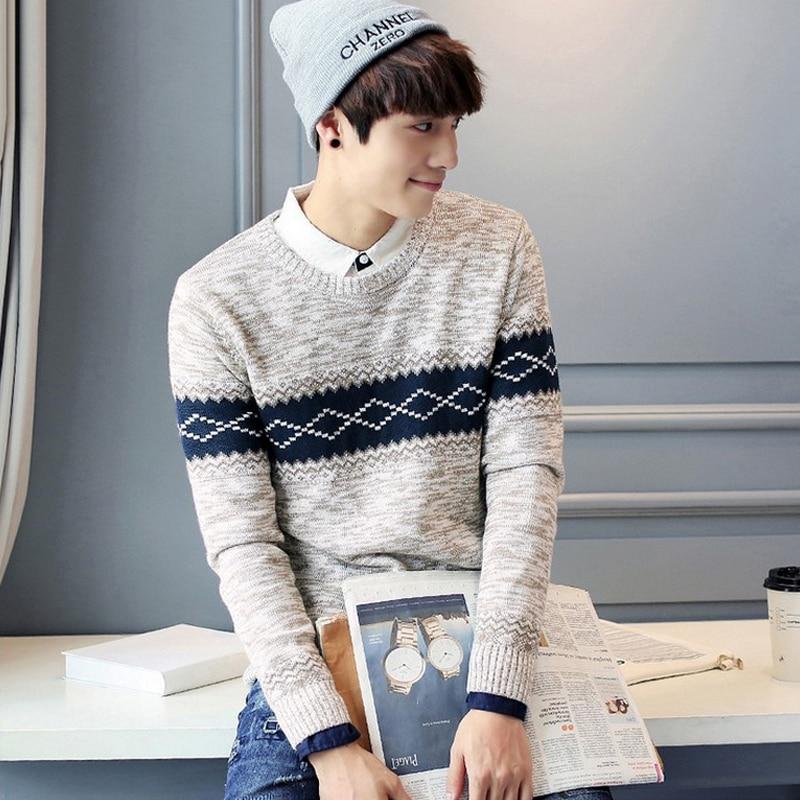 2016 Winter Cotton Sweater Men Brand O neck Pullover Knitting ...
