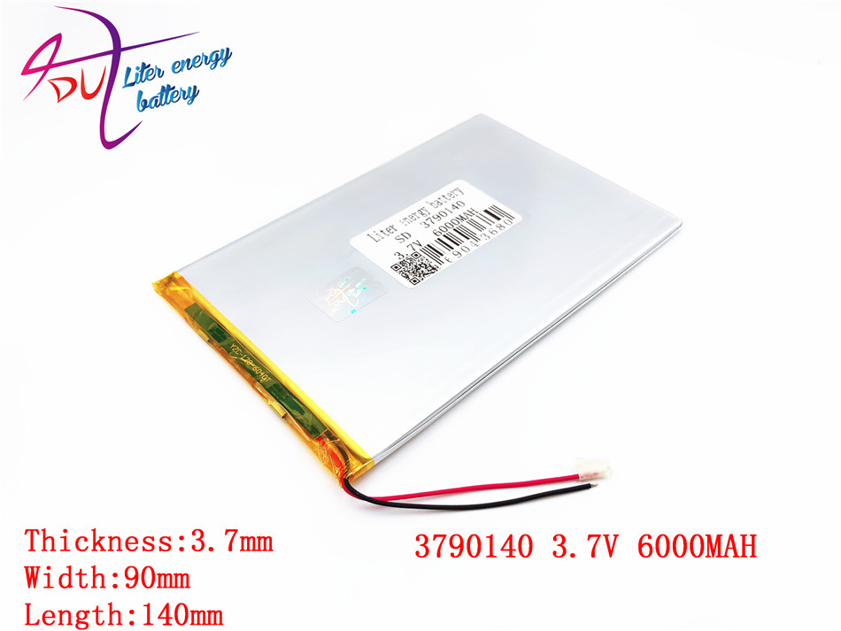 large capacity 3.7V tablet battery 6000MAH each brand tablet universal rechargeable lithium batteries 3790140 hbt35140100 universal 3 7v 6000mah built in battery for 9 7 10 10 1 tablet pc silver