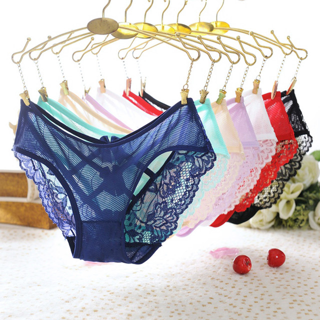 1PC Women Sexy Lace Bowknot Panties Hollow Cross Bandage Knickers Bowknot G-String Briefs Breathable Underwear Intimates 2