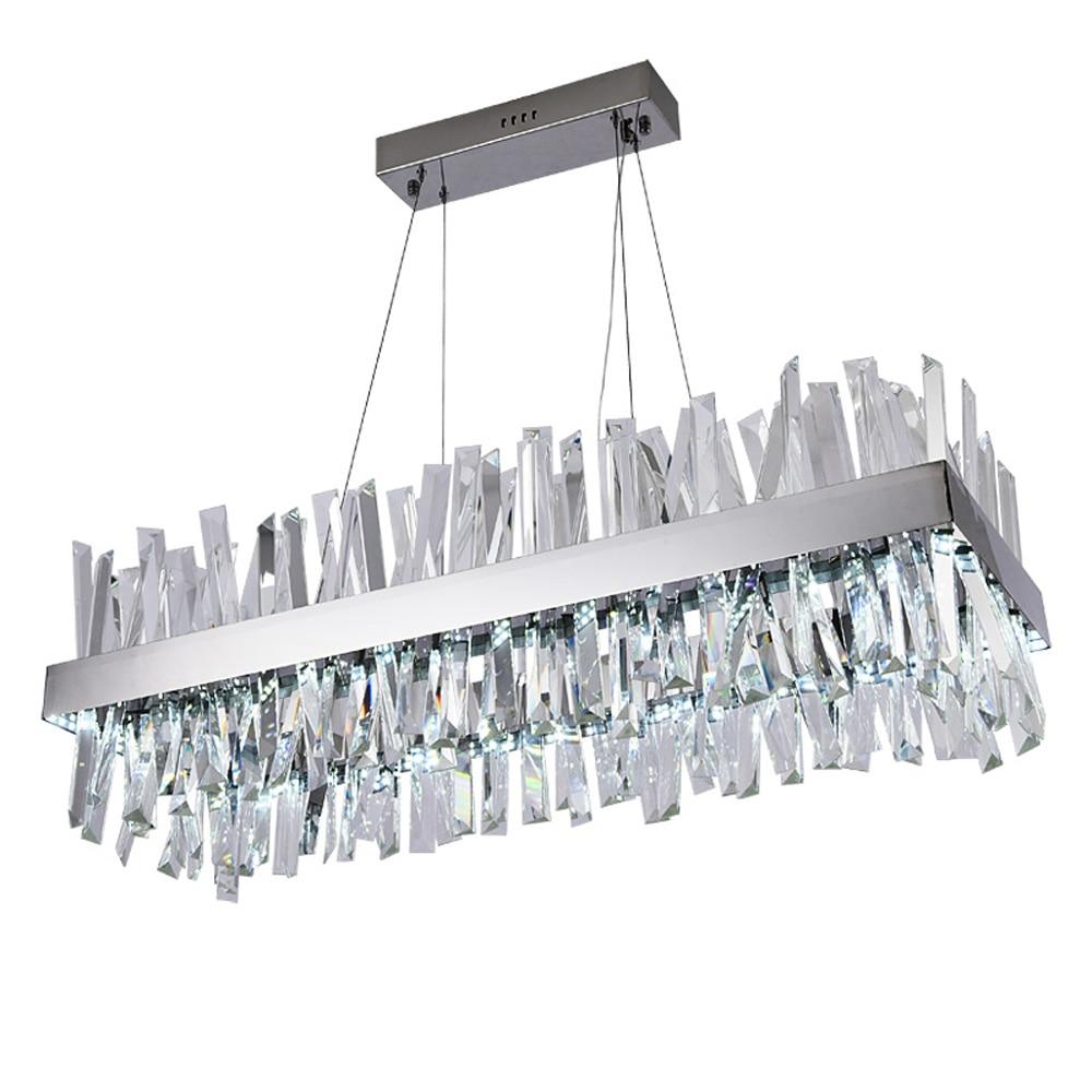 luxury design modern crystal chandelier LED light AC110V 220V lustre cristal chrome dinning room living room