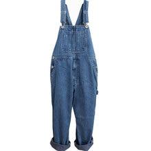 Мужские джинсовые комбинезоны, комбинезон, мужской большой размер, огромный джинсовый комбинезон с карманами, Комбинезоны