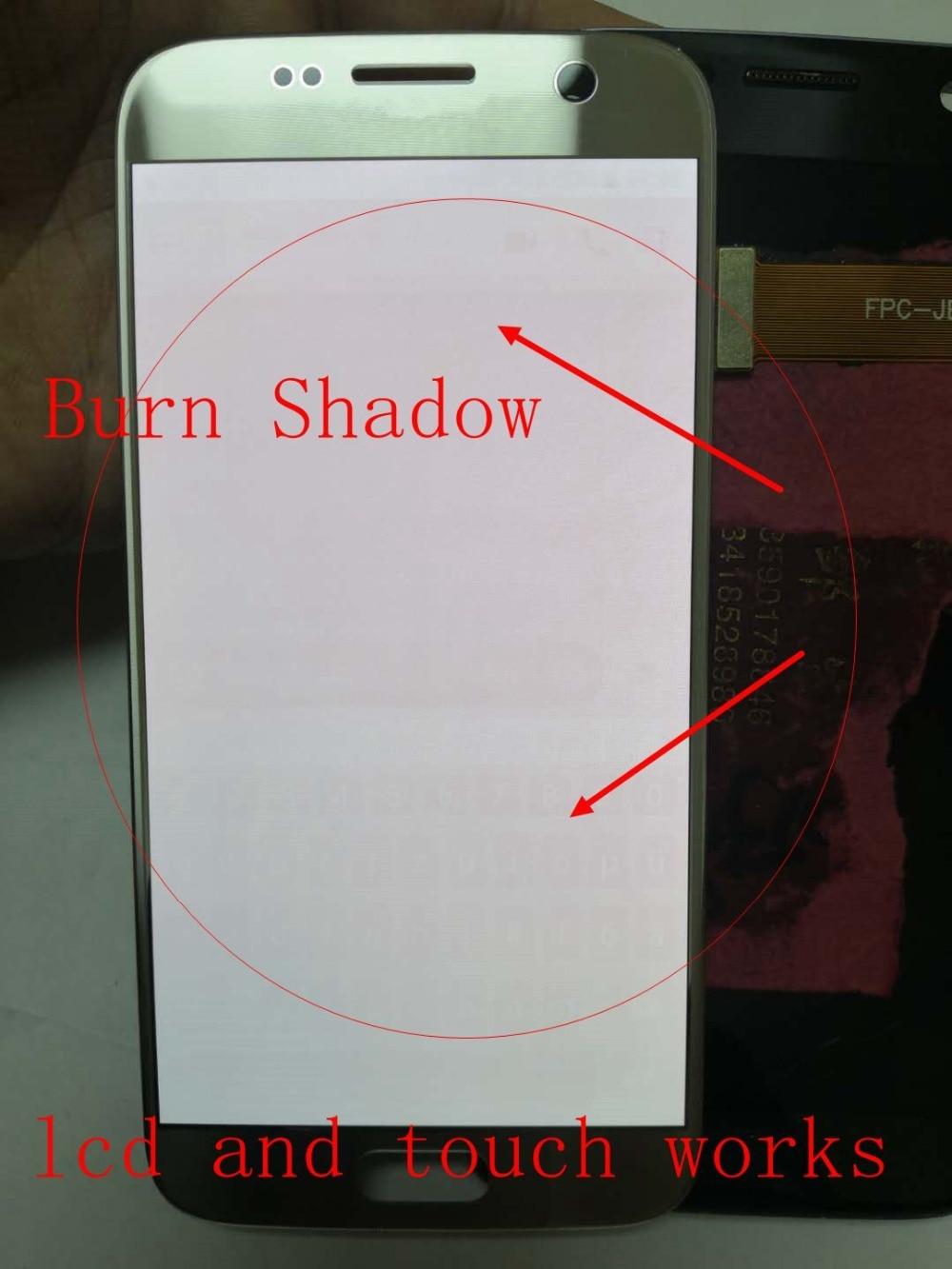 Graver ombre Amoled pour Samsung Galaxy S7 Edge G935 G935F G935i G935Y G935M écran Lcd + assemblage numériseur en verre tactile
