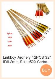 Linkboy tiro com arco 12 pçs setas