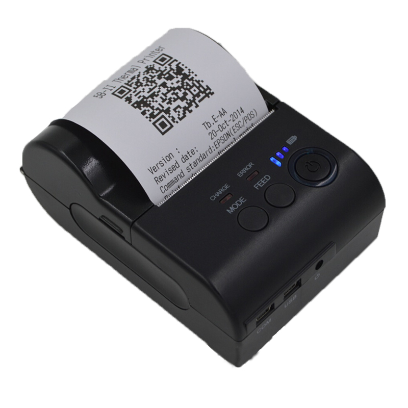 ФОТО Bluetooth Thermal Ticket Printer 58mm POS Printer Thermal Receipt Ticket Barcode Printer Ticket Machine for IOS Android Windows