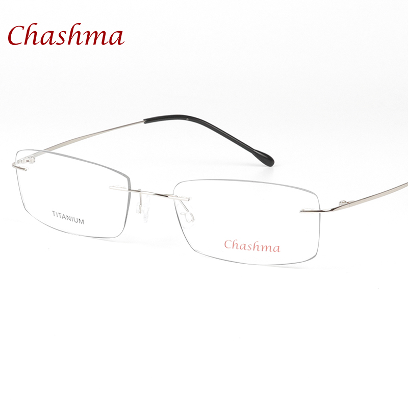 a60ac89098 Chashma Brand Ultralight Titanium Rimless Glasses Frame Myopia Frame Good  Look and Comfort Glasses Frames-in Eyewear Frames from Apparel Accessories  on ...