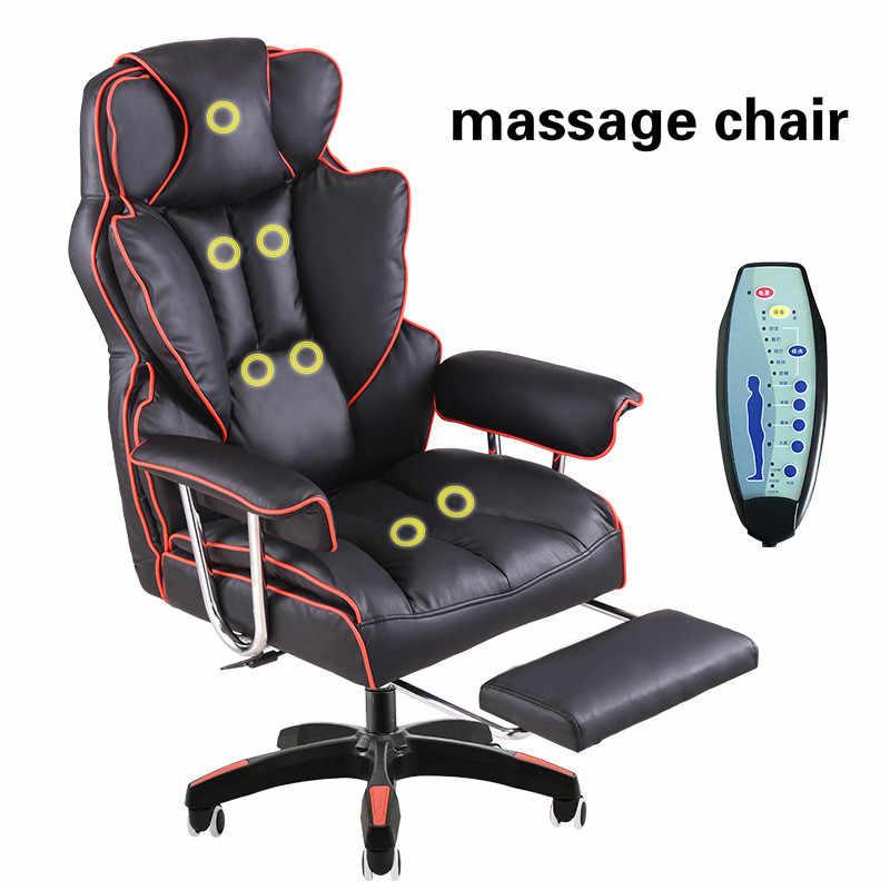 Bureaustoel Met Voetsteun.Luxe Gaming Stoel Thuis Liggende Comfortabele Massage Boss Stoel
