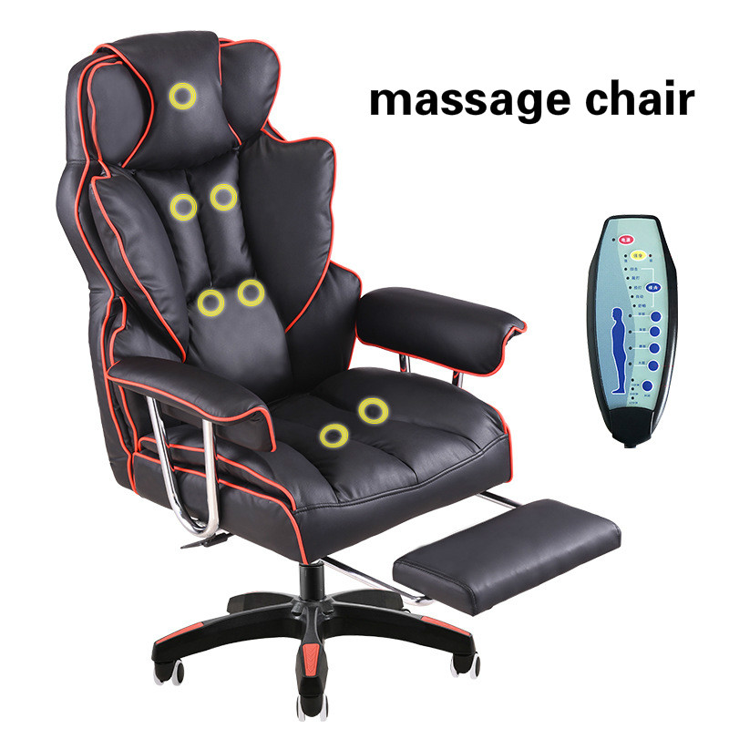 Luxurious Gaming Chair Home Reclining Comfortable Massage Boss Chair Seat With Footrest Lifted Swivel Office Chair Silla Gamer Aliexpress