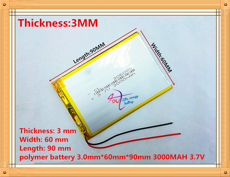 Tablet battery 3.7V 3000mAh 306090 Lithium Polymer Li-Po li ion Rechargeable Battery cells For Mp3 mobile bluetooth 3 7v 12000mah 1640138 combination rechargeable lipo polymer lithium li ion battery for power bank tablet pc laptop pad pcm board