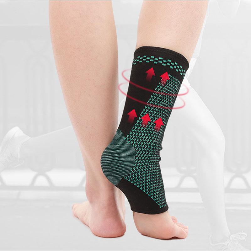 1PCS Knitting Breathable Sport Ankle Brace Protector Universal Elastic Ankle Support Weights Strap Guard For Football Basketball in Ankle Support from Sports Entertainment