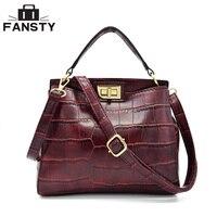 Small Crocodile Women Handbags Famous Brand Leather Shoulder Bag Retro Crossbody Bags Vintages Flap Messenger Bag