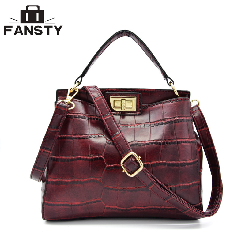 Small Crocodile Women Handbags Famous Brand Leather Shoulder Bag Retro Female Design Crossbody Bags Vintages Flap Messenger Bag new stylish patent leather women messenger bags women handbags crocodile shoulder bags for woman clutch crossbody bag 6n07 06