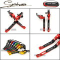 Logo MT09 For Yamaha Mt 09 MT-09 2014-2015 Motorcycle Accessories Adjustable Folding Extendable Brake Clutch Levers Red