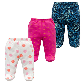 3PCS/lot Baby Pants 100% Cotton Autumn Spring Newborn Baby Boys Girls Trousers Kid Wear Infant Toddler Cartoon For Baby Clothing 5