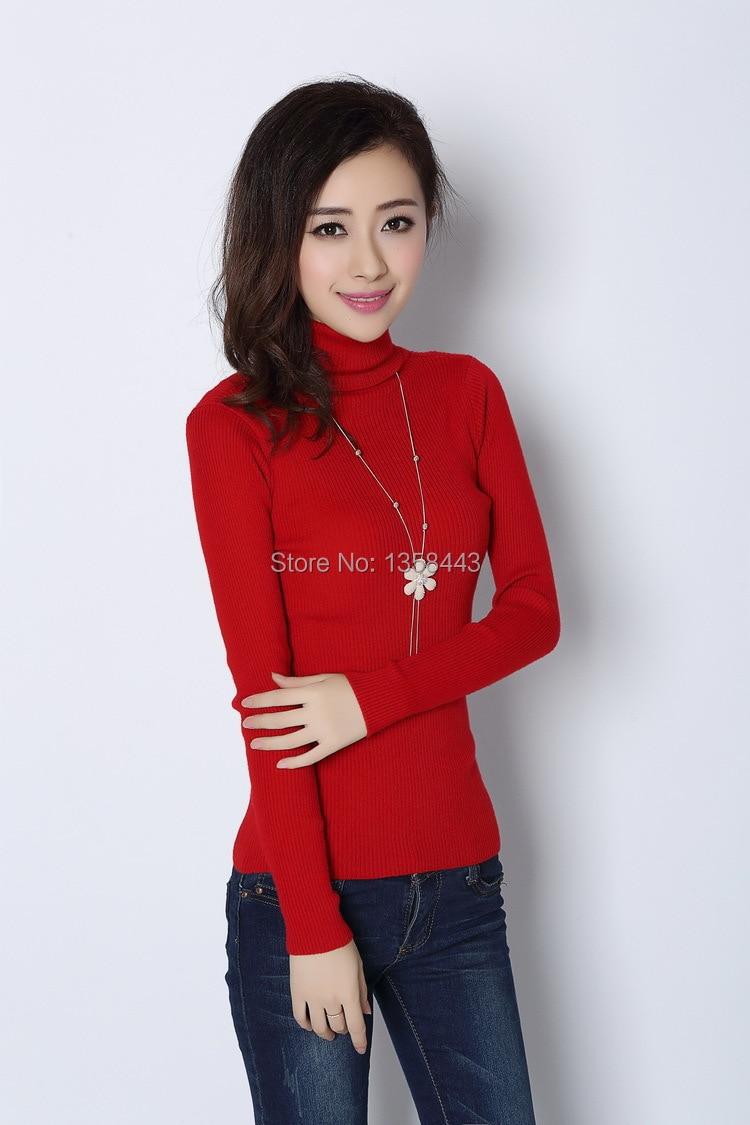 Online Shop New winter Pure cashmere sweater women turtleneck ...