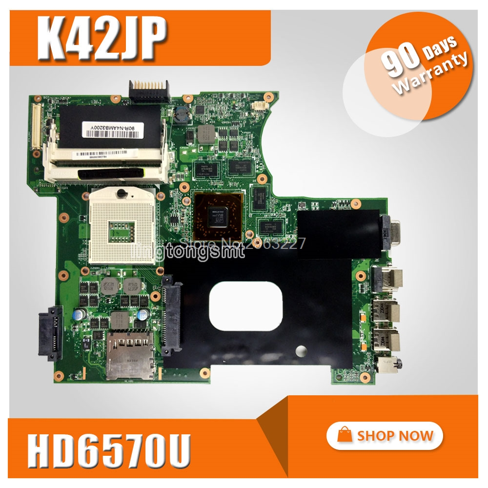 K42JP HD6570 1GB For ASUS K42J A40J X42J A42J Laptop Motherboard K42JA REV2.0 100% tested