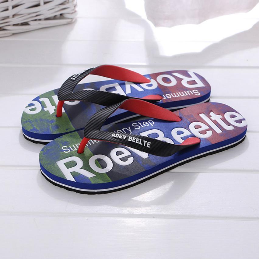 Мужская Летняя разноцветная обувь; сандалии; мужские шлепанцы; Домашние или уличные Вьетнамки;# A40 - Цвет: Синий