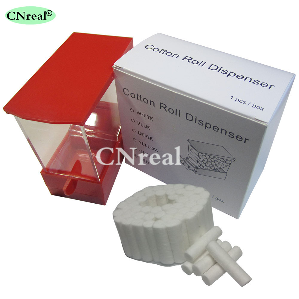 1 piece Dental Cotton Roll Dispenser 50 pcs Cotton Roll Drawer type Red in Teeth Whitening from Beauty Health