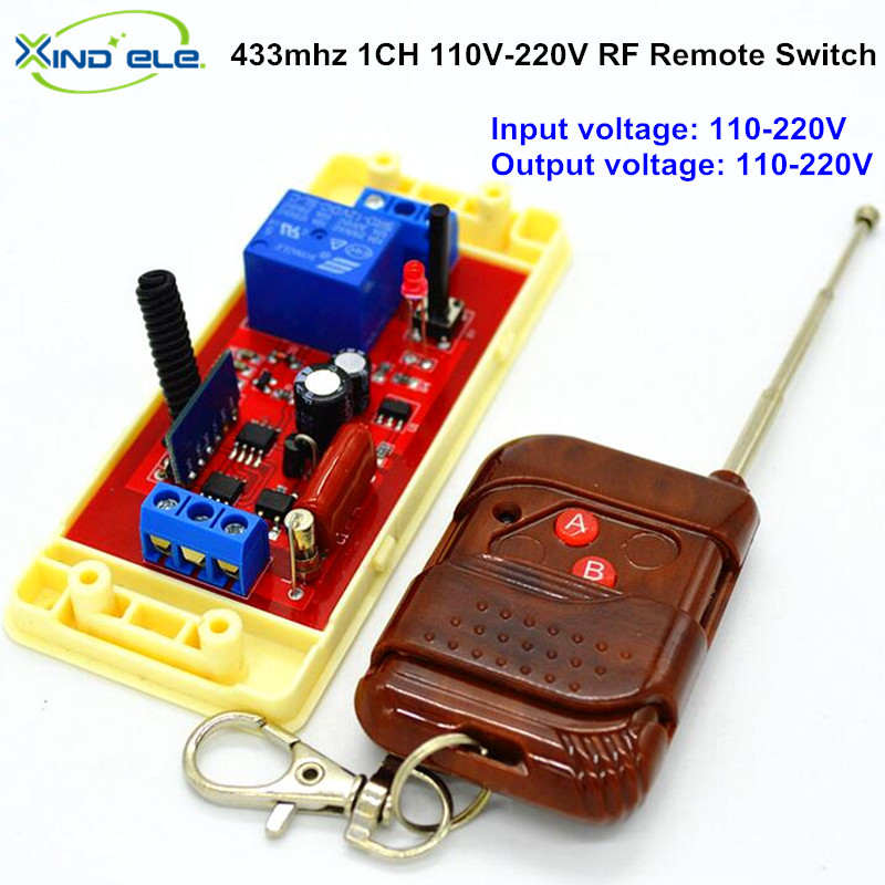 AC 110V 220V 1CH RF Universal Wireless Remote Control Light Switch Relay Output Radio Receiver Module 433mhz Transmitter 2ch 5v wireless remote control light switch receiver relay module 433mhz rf on off switches for lamp light motor gaage door