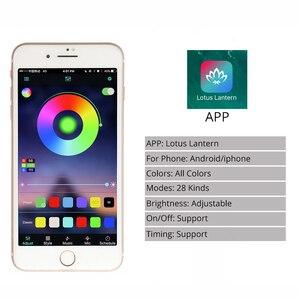 Image 4 - โทรศัพท์ APP และรีโมทคอนโทรล RGB LED Strip 220 V 220 V ไฟกันน้ำ LED Strip Light 60 LEDs/M 5050 ริบบิ้น ledstrip เทป IL