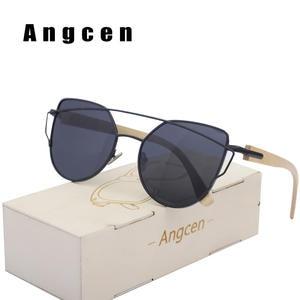 9ac3356b22 Angcen Cat Eye Men Polarized Vintage Mirror Women