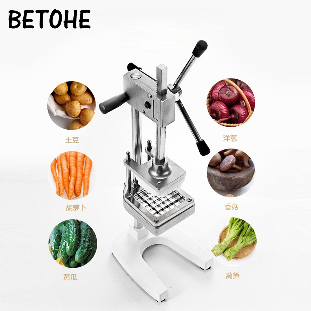 BETOHE Manual Cut French Fries Machine Potato Cutter Chips +3 Blades Fruit and Vegetable Making Machine Картофель фри